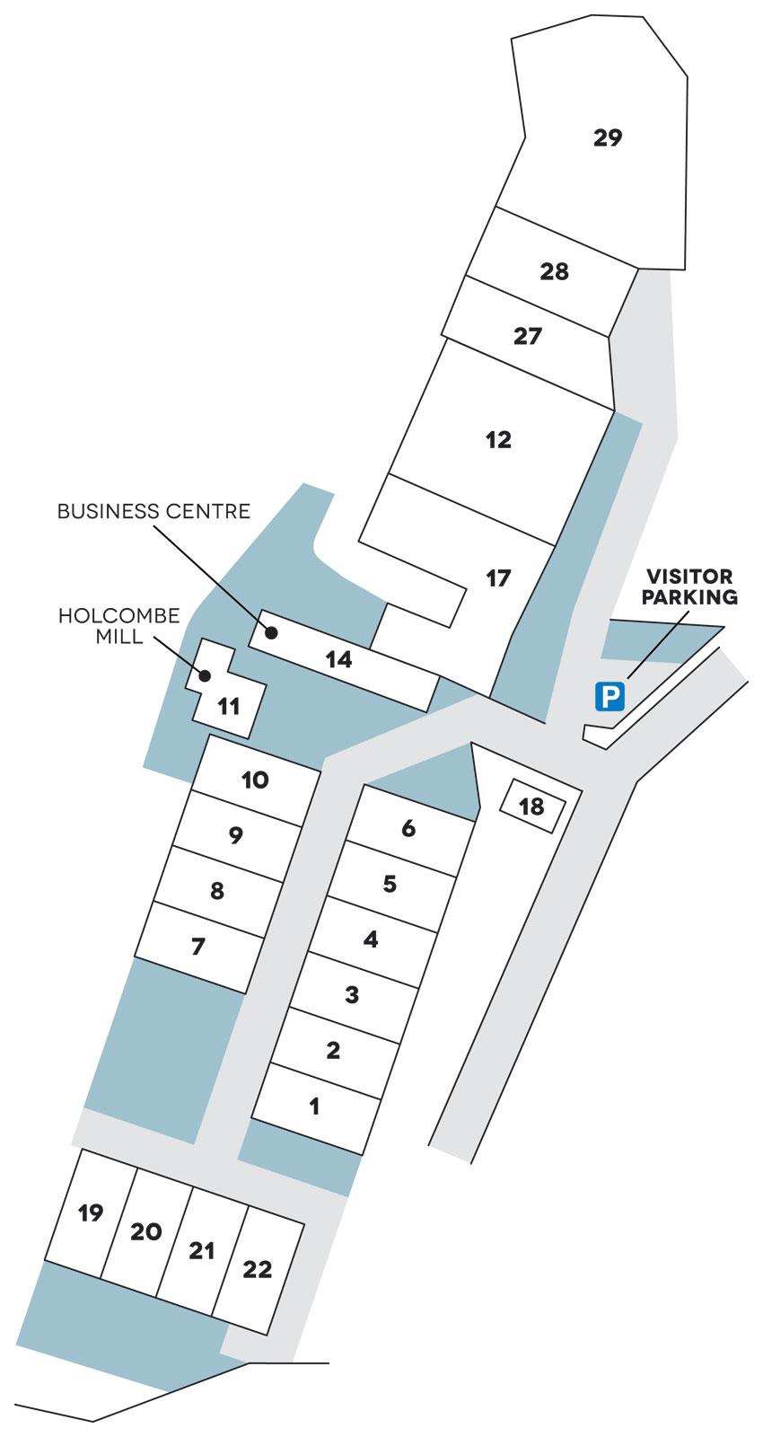 Spring Mill location site plan
