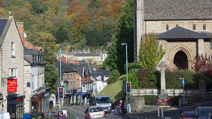 Nailsworth church and shops